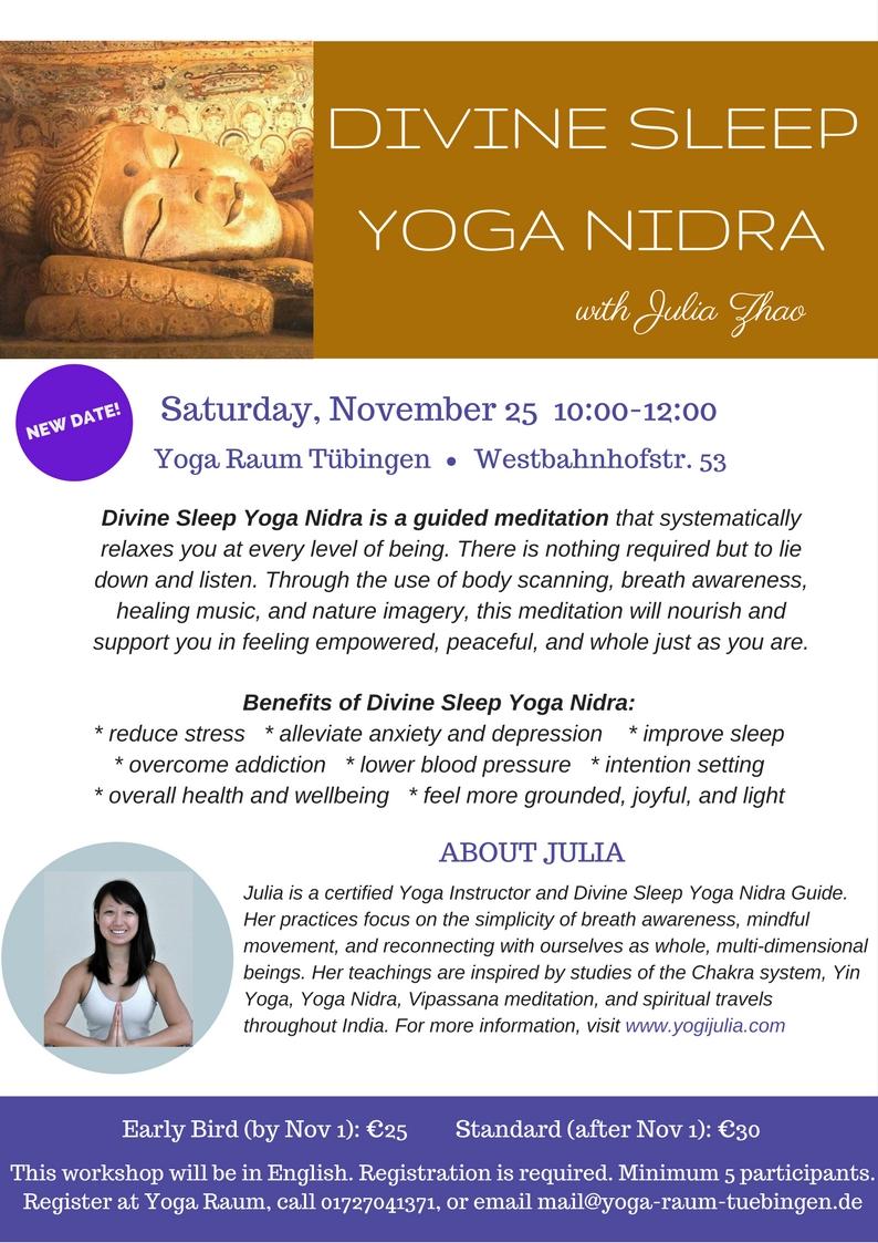 Devine Sleep Yoga Nidra Yoga Raum Tubingen