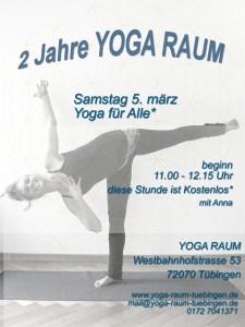 2 Jahre Yoga Raum