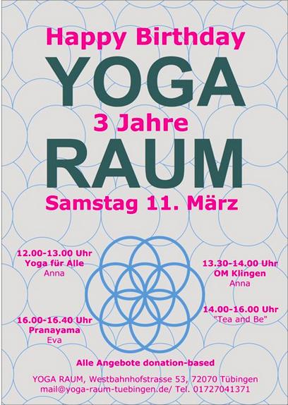 3 Jahre Yoga Raum Yoga Raum Tubingen