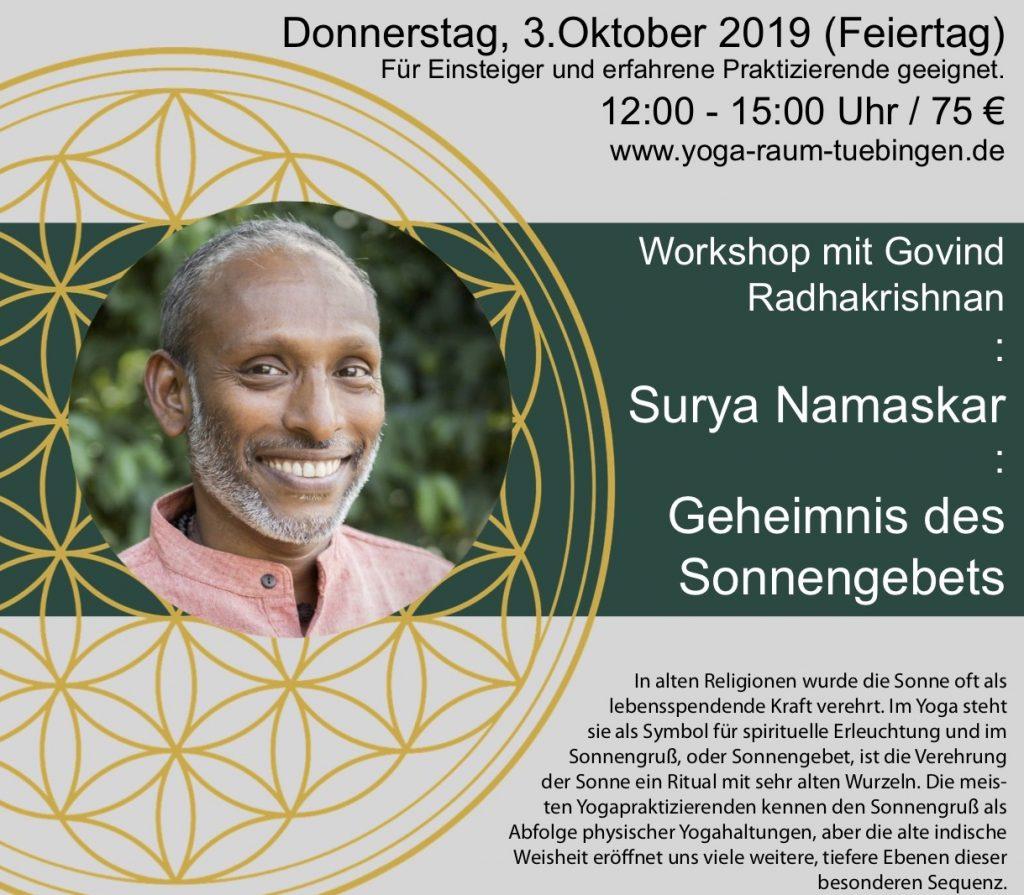 Surya Namaskar, Workshop über das Geheimnis des Sonnengebets